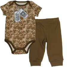 New Baby boy ARMY clothes camouflage 2 piece set 0-3 3-6 6-9 months