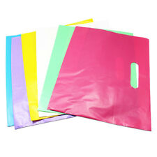 Colorful Plastic Shopping Bags With Handle Boutique Clothes Gift Packaging Bag
