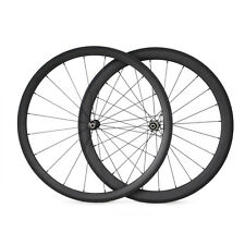 38mm+50mm Clincher Carbon Wheels 25mm Width Straight Pull Bike Cycling Wheelset