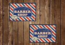 BARBER SHOP,A5 SIZE,BARBERS,HAIR,VINTAGE STYLE, ENAMEL METAL SIGN,346