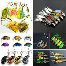 Mixed Fishing Lures Crankbaits Hooks Minnow Metal Baits Tackle Frog Shrimp Lure