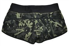 NWT Lululemon Run Speed Short H2O Sz 4 XS Camo Pop Cut Fatigue Black Swim NEW