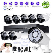 8CH 1080P P2P NVR 1.3MP Network POE HDMI Outdoor Home Security IP Camera System
