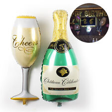 Big Size Champagne Bottle Cup Foil Balloon Cute Birthday Event Party Decor Hot