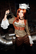 RQ-BL Gothic Victorian Vintage Steampunk Military Lace Blouse Shirt Jacket