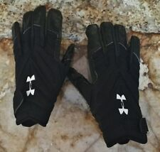 NEW Youth Sz L UNDER ARMOUR UA Combat II Lineman Black White Football Gloves