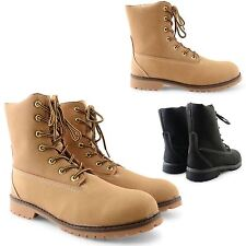 NEW MENS LACE UP COMFY MILITARY ARMY WORKER GRIP SOLE ANKLE COMBAT BOOTS SIZE