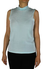 Women's Solid Sky Turtle Neck Tank Top Slinky Travel Casual Wear With Plus Size