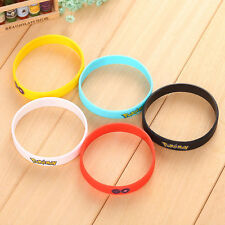 Cute Five Pokemon Go Wristband Silicone Bracelet Bangle Popular Women Jewelry