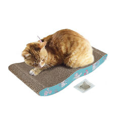 HERITAGE CARDBOARD CAT SCRATCHER SCRATCHING BED PAD SOFA LOUNGE FREE CAT Toy