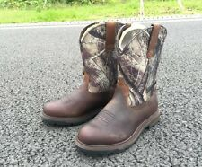 Ariat Mens Groundbreaker Camo Brown Work Boots10014245 NIB Pull-On Hunting