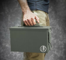 Monogram Personalized 50 Cal Ammo Box Can Groomsmen Gift Box Wedding Father Gift