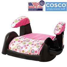Booster Car Seat Backless Child Toddler Youth Kids Safety Turbobooster Pink NEW