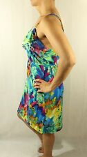 NWT bobbie brooks multicolored floral beach spaghetti  strap ruffled chest dress