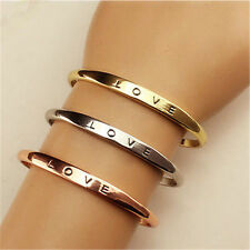 WHOLESALE LOT of 101 LOVE Bangle Cuff Bracelets Gold/Silver/Rose Gold NEW