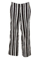 NEW Deshabille Womens PJ Bottoms Milliner Stripe Pant Black