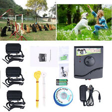 Underground Waterproof Shock Collar Electric Dog Fence Fencing System 1 2 3 dogs