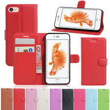 Magnetic Wallet Card Holder PU Leather Folio Stand Case Cover For Apple iPhone 7