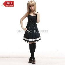 Death Note Anime costume women adult misa amane cosplay Gothic Lolita dress lady