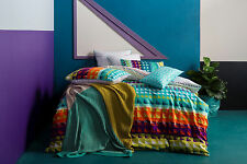 NEW Pireas quilt cover set by Kas - cotton geometric bedding bed linen