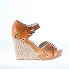 MICHAEL KORS women shoes Peanut leather rope wedge sandal with wooden platform