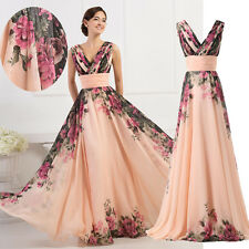 Women Chiffon Long Prom Gown Formal Evening Cocktail Party Prom Bridesmaid Dress