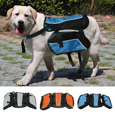 Large Dog Backpack Back Pack Saddle Bag Pet Hound Carrier Travel Hiking Camping