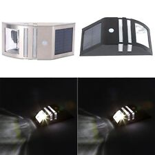 LED Solar Power Motion Sensor PIR Light Stainless Steel Wall Garden Yard Lamp