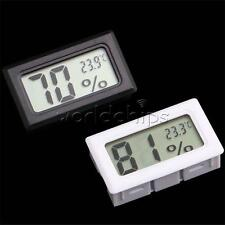 LCD Digital Temperature Humidity Thermometer Outdoor Hygrometer Reptile Meter W