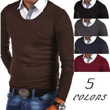 New Mens Stylish Slim Fit Cotton Long Sleeve Casual Shirt T-shirts Fashion Tops