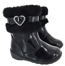 BABIES KIDS TOODLERS WINTER WARM FUR ANKLE GIRLS INFANTS ZIP SHOES BOOTS SIZE JJ