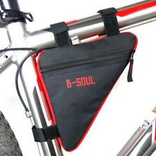 Triangle Cycling Bike Bicycle Front Tube Frame Bag Saddle Phone Pouch Wallet