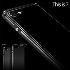 Newest Aluminum Metal Bumper Frame w/Clear Back Cover Case For iPhone 7 7 Plus