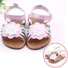 Baby Girl PU Leather Summer Sandals Shoes Non-Slip Sunflower Shoes 11/12/13
