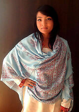 Large Om Prayer Shawl with Fringes-High Quality Cotton Prayer Shawl Scarf