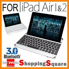 New Smart Aluminum Bluetooth Wireless Keyboard Case Cover For iPad Air 2 & 1