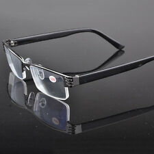 New Unisex Reading Glasses Coating Metal Half-frame Reading Glasses +1.0 to +3.5