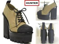 "Rare & Stunning Hunter Original Canvas 5"" Heel Platform Shoes New w/ Box US7 & 8"