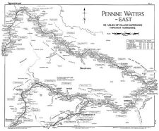 Lockmaster No3 Pennine Waters - East  Waterways Canal Map Guide Narrowboat