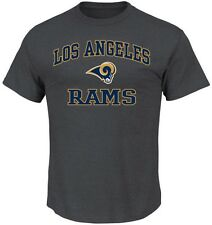 Los Angeles Rams NFL Mens Heart & Soul Shirt Charcoal Big & Tall Sizes