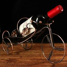 Home Decor Iron Single Wine Rack Bike Shape Bottle Holder Storage Stand Tricycle