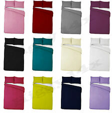 Plain Dyed Duvet Cover, Flat, Fitted or  Valance sheet Set Single Double King