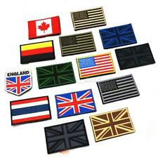 """Nation Flag Sew Embroidered Trim 2""""x3"""" Upick Standard Emblem Iron On Patch New"""
