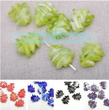 Christmas Tree 10pcs 15x12mm Lampwork Glass Jewelry Findings Loose Spacer Beads