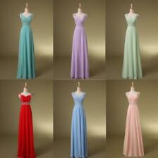 New Chiffon Sexy Long Formal Prom Dress Party Bridesmaid Evening Ball Gown M566