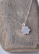 STERLING SILVER CUTE LITTLE DAISY CHARM CHAIN NECKLACE 925