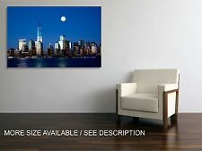 Canvas Print Picture New York Freedom Tower Night /Stretched - ready to hang