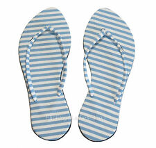 BLUE & WHITE STRIPES  Women Sandals Flip Flops Slippers Thongs Slides