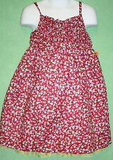 Penelope Mack Dress Girls Red Floral Blue Pink Yellow Flowers NWTS Lined 4T