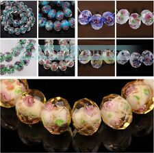 DIY 10/20pcs 12x9mm Lampwork Glass Crystal Jewelry Findings Loose Spacer Beads